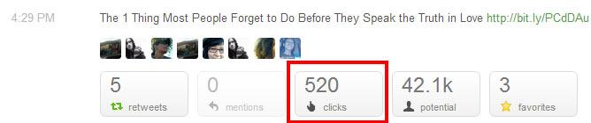 520 clicks on a single link