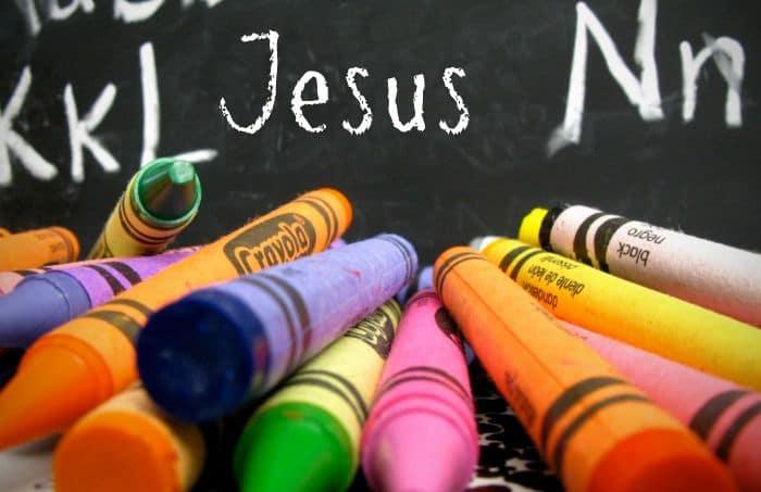 Jesus chalkboard