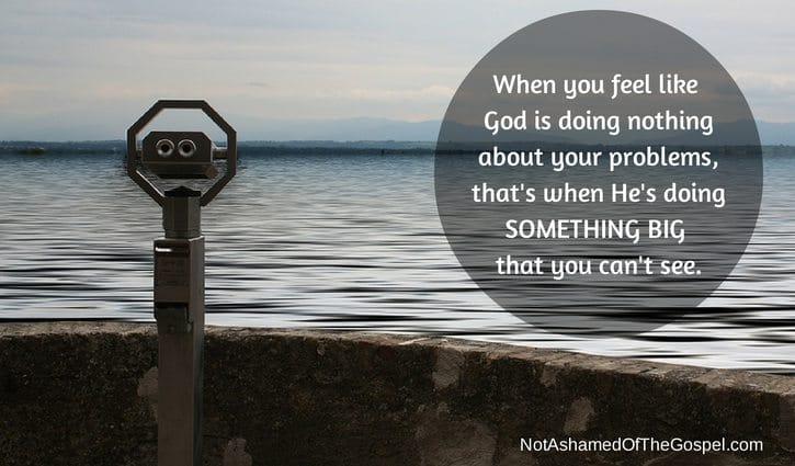 God doing nothing testimony