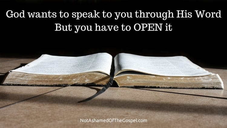 you can know you are hearing the voice of God by opening the word of God