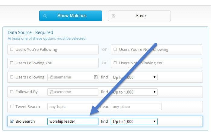 ManageFlitter bio search