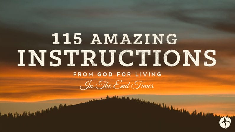 115 amazing instructions for the end times