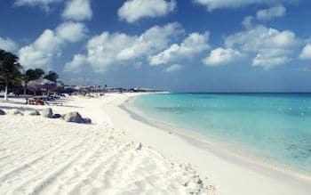 Aruba is known for its beautiful beaches.