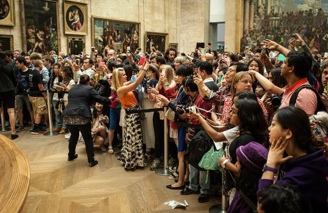 The Mona Lisa at the Louvre musem
